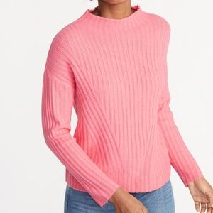 Sweaters - BRAND NEW pink mock neck long sleeve sweater